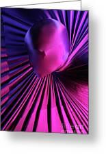 Abstract Human Head Greeting Card by Oleksiy Maksymenko
