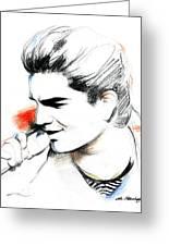 Adam Lambert Greeting Card by Lin Petershagen