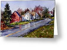 After The Rain Greeting Card by Tony Van Hasselt