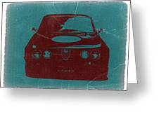 Alfa Romeo Gtv Greeting Card by Naxart Studio