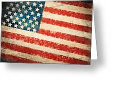 America Flag Greeting Card by Setsiri Silapasuwanchai