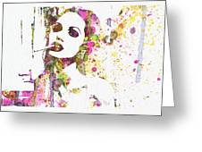 Angelina Jolie 2 Greeting Card by Naxart Studio