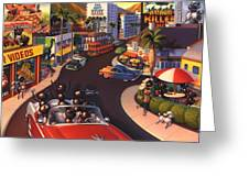 Ants on the Sunset Strip Greeting Card by Robin Moline