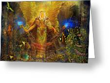 Archangel Michael-angel Tarot Card Greeting Card by Steve Roberts
