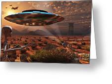 Artists Concept Of Stealth Technology Greeting Card by Mark Stevenson