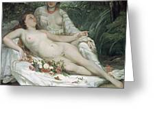 Bathers Or Two Nude Women Greeting Card by Gustave Courbet