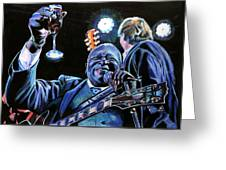 Bb King Greeting Card by Chris Benice