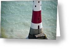 Beachy Head Lighthouse. Greeting Card by Donald Davis