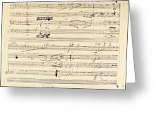 BEETHOVEN MANUSCRIPT, 1826 Greeting Card by Granger