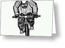 Biking Man Greeting Card by Karl Addison