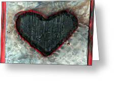 black heart Greeting Card by Jane Clatworthy