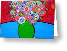 BLOOMS 3 Greeting Card by PRISTINE CARTERA TURKUS