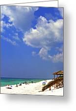Blue Mountain Beach Greeting Card by Thomas R Fletcher