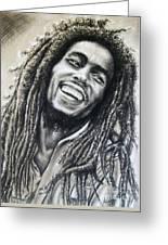 Bob Marley Greeting Card by Anastasis  Anastasi