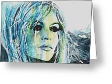 Brigitte Bardot Greeting Card by Paul Lovering