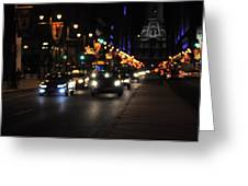 Broad Street Greeting Card by Brynn Ditsche