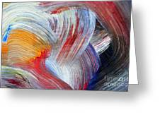 Brush Strokes Greeting Card by Michal Boubin