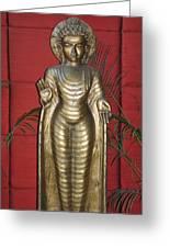 Buddha 1 Greeting Card by Vijay Sharon Govender