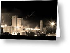 Budwesier Brewery Lightning Thunderstorm Image 3918  Bw Sepia Im Greeting Card by James BO  Insogna