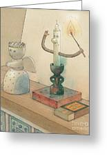 Candle Greeting Card by Kestutis Kasparavicius