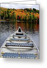 Canoe On A Lake Greeting Card by Oleksiy Maksymenko