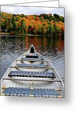 Canoe On A Lake Greeting Card by Oleksiy Maksymenko