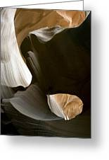 Canyon Sandstone Abstract Greeting Card by Mike Irwin