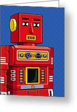 Chief Robot Greeting Card by Ron Magnes