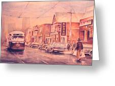 Chinatown Streetcar Toronto Greeting Card by Merv Scoble