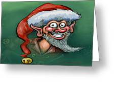 Christmas Elf Greeting Card by Kevin Middleton
