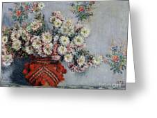 Chrysanthemums Greeting Card by Claude Monet