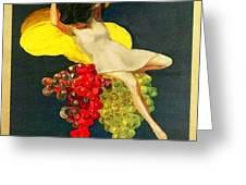 Cinzano Girl Greeting Card by Nick Diemel