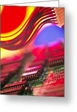 Circuit Board Greeting Card by Chris Knapton