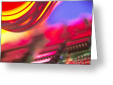Circuit Board Greeting Card by Chris Knapton