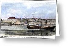 Civil War: Union Steamer Greeting Card by Granger