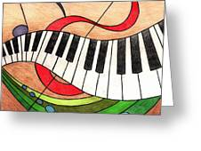 Colorful Music Greeting Card by Michelle Young