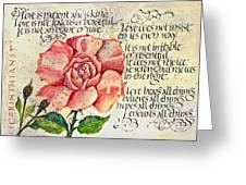 1 Corinthians 13 Greeting Card by Dave Wood