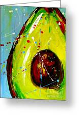 Crazy Avocado Greeting Card by Patricia Awapara