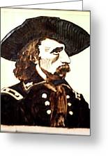 Custer Greeting Card by Timothy Wilkerson
