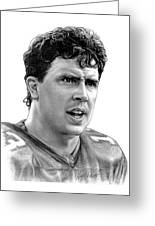 Dan Marino Greeting Card by Harry West