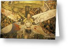 Diego Rivera Mural Mexico City Greeting Card by John  Mitchell