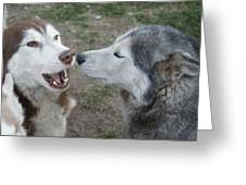 Dog Breath Greeting Card by Lynda Dawson-Youngclaus