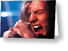 Eddie Vedder Greeting Card by Gordon Dean II