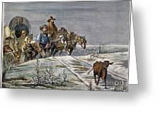 Emigrants, 1874 Greeting Card by Granger