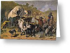 Emigrants To West, 19th C Greeting Card by Granger