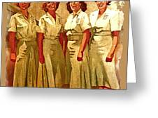 Female Security Guards Greeting Card by Dean Gleisberg