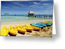Fiji, Malolo Island Greeting Card by Himani - Printscapes