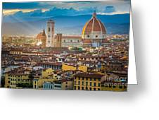 Firenze Duomo Greeting Card by Inge Johnsson