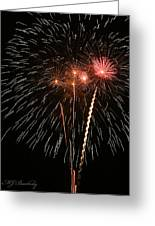 Fireworks Greeting Card by Marti Buckely