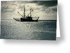 Fishing Boat Greeting Card by Joana Kruse